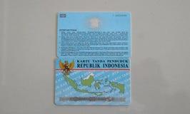 KTP och SIM är identitetskort för indonesiska medborgare royaltyfria foton