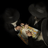 Ktubah Ceremony. Jewish wedding contract before the ceremony Stock Image