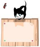 Kätzchen. Platz für Ihr tex Stockfoto