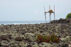 Ku'emanu Heiau, kailua-Kona, Hawaï Royalty-vrije Stock Foto's