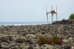 Ku'emanu Heiau, Kailua-Kona, Hawaii Fotos de archivo libres de regalías