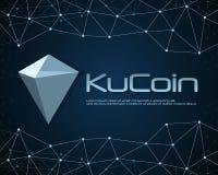 Ku-Münze blockchain Hintergrunddesign Lizenzfreie Stockfotografie
