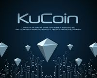 Ku-Münze blockchain Hintergrunddesign Stockfoto