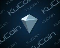 Ku-Münze blockchain Hintergrunddesign Lizenzfreies Stockbild