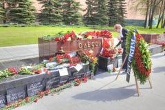 Ku pamięci tragicznego zdarzenia Odessa stela Obrazy Royalty Free