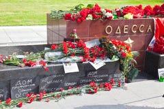 Ku pamięci tragicznego zdarzenia Odessa stela Obraz Royalty Free