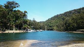 Ku-ring-gai Chase National Park. McCarrs Creek at Ku-ring-gai Chase National Park , Sydney Australia Stock Photos