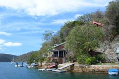Cottage in Ku-ring-gai Chase National Park. New South Wales. Australia Royalty Free Stock Images
