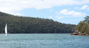 Sailing in Ku-ring-gai Chase National Park. New South Wales. Australia. The Ku-ring-gai Chase National Park is a protected national park that is located in New Royalty Free Stock Photos