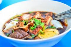 KUAI CHAP Thai noodle. KUAI CHAP Thai noodle in the bolw Stock Photo