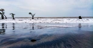 The beach. Kuakata beach Bangladesh landscape photo Royalty Free Stock Photo