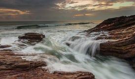 Kuala abang wave flow Stock Photo