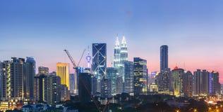 Kuala de horizon van Lumpur, Maleisië Royalty-vrije Stock Fotografie