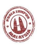 Kuala de zegel van Lumpur, Maleisië Stock Afbeeldingen