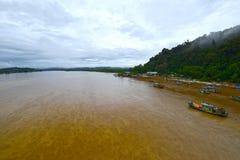 Kuala Dungun Fishing Village Arkivfoton