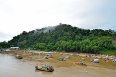 Kuala Dungun wioska rybacka zdjęcie stock