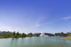 Kuala ibai white floating mosque Stock Photo