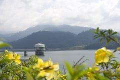 Kuala Kubu Reservoir. Pumping station at Kuala Kubu Reservoir, Malaysia Stock Image