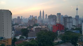 City in the morning. Kuala lampur city in the early morning Royalty Free Stock Photos