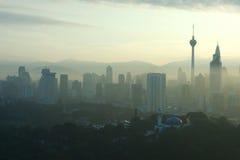 Kuala Lumpar Cityscape. A view of Kuala Lumpar city skyline Stock Photo