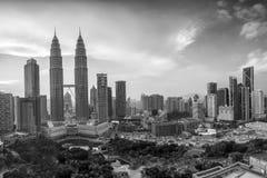 Kuala Lumper skyline at twilight Royalty Free Stock Images