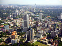 Kuala Lumpur from above. Aerial view of Kuala Lumpur city Stock Photography
