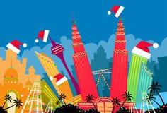 Kuala Lumpur Abstract Skyline City-Wolkenkrabber vector illustratie