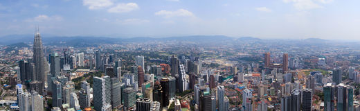 Kuala Lumpur aereo Immagini Stock