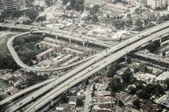 Kuala Lumpur aerial view Stock Images