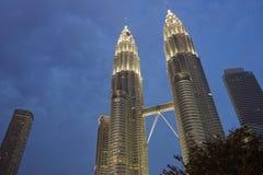 Kuala Lumpur al crepuscolo fotografia stock