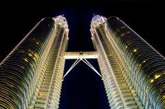Kuala Lumpur alla notte Fotografie Stock Libere da Diritti