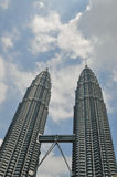 KUALA LUMPUR - APRIL 10: General view of Petronas Twin Towers Royalty Free Stock Images