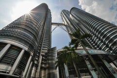KUALA LUMPUR - APRIL 10: General view of Petronas Twin Towers Royalty Free Stock Image