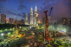 Kuala Lumpur błękita godzina Obrazy Stock