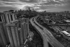 Kuala Lumpur B&W Photo libre de droits