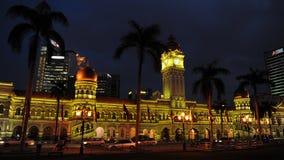 Kuala Lumpur bij Nacht Royalty-vrije Stock Afbeeldingen