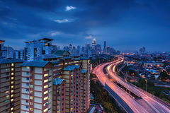 Kuala Lumpur At Blue Hour Royalty Free Stock Images
