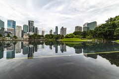 Kuala Lumpur centrum miasta odbicie zdjęcia royalty free
