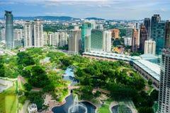 Kuala Lumpur centrum miasta park Zdjęcia Royalty Free