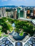 Kuala Lumpur centrum miasta park obraz stock