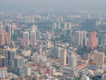 Kuala Lumpur City From Above photographie stock