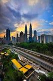 Kuala Lumpur City during blue hour Royalty Free Stock Image