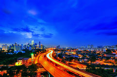 Kuala Lumpur City during blue hour Royalty Free Stock Images
