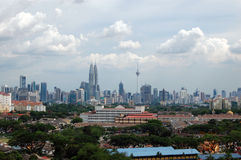 Kuala Lumpur city center scenic view Royalty Free Stock Photography
