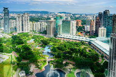 Kuala Lumpur City Centre Park Lizenzfreie Stockfotos