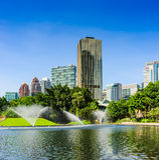 Kuala Lumpur City Centre Park Lizenzfreie Stockbilder