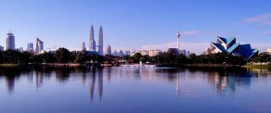 Kuala Lumpur City Centre & Titiwangsa Lake Royalty Free Stock Image
