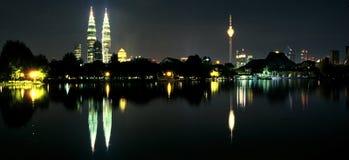 Kuala Lumpur City Centre & Titiwangsa Lake Royalty Free Stock Photos