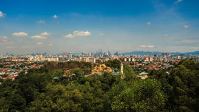 Kuala Lumpur city from a far top view. Stock Photo