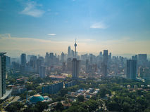 Kuala Lumpur City landskap i Malaysia Royaltyfria Bilder